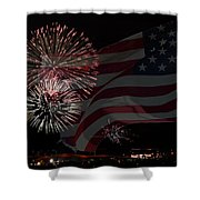 Patriotic Shower Curtain by Dianne Phelps