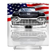 Patriotic Ford F100 1960 Shower Curtain
