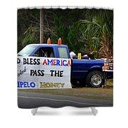 Patriotic Honey Salesman Shower Curtain
