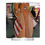 Patriotic Hotdog Shower Curtain