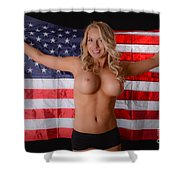 Patriotic Sexy Woman  Shower Curtain