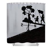 Patriotic Weathervane Shower Curtain