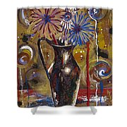 Patriotism Blooms Shower Curtain
