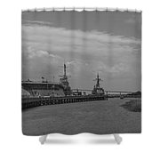 Patriots Point Panorama Shower Curtain