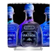 Patron Tequila Black Light Shower Curtain