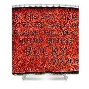 Pats Steaks - Rocky Plaque Shower Curtain