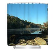 Patsiliga Creek Lake Shower Curtain