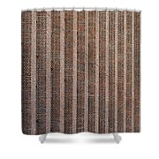 Patterend Brick Facade Shower Curtain