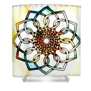 Pattern 18 Colourised Shower Curtain