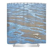 Pattern In Mud Flats At Low Tide In Kachemak Bay From Homer Spit-alaska Shower Curtain
