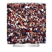 Pattern Of Brave Footballers Shower Curtain