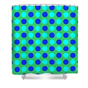 Pattern Of Circles Shower Curtain