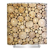 Pattern Of The Wood Pieces Shower Curtain