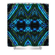 Patterned Art Prints - Cool Change - By Sharon Cummings Shower Curtain