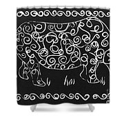 Patterned Rhino Shower Curtain