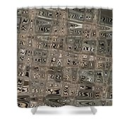 Patterned Ripples Shower Curtain
