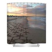 Patterns On Venice Beach Shower Curtain