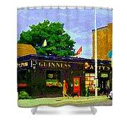 Patty's Pub Guinness On The Glebe Restaurant Bar Bank And Ossington Paintings Of Ottawa Art Cspandau Shower Curtain