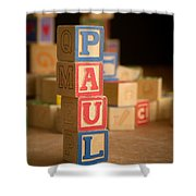 Paul - Alphabet Blocks Shower Curtain