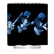 Paul Harwood Of Mahogany Rush Plays The Blues Shower Curtain