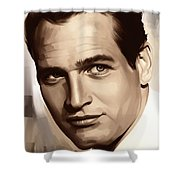 Paul Newman Artwork 1 Shower Curtain