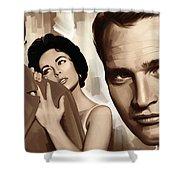 Paul Newman Artwork 2 Shower Curtain