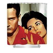 Paul Newman Artwork 3 Shower Curtain