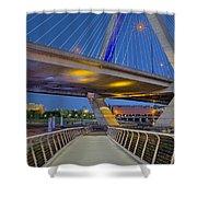 Paul Revere Park And The Zakim Bridge Shower Curtain