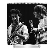 Paul And Mick In Spokane 1977 Shower Curtain