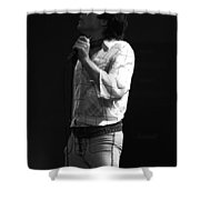 Paul Feeling The Good Vibes In Spokane 1977 Shower Curtain