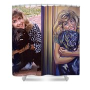 Paula Commissioned Portrait Side By Side Shower Curtain