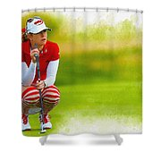 Paula Creamer - The Ricoh Women British Open Shower Curtain