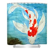 Paul's Koi Shower Curtain