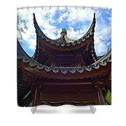 Pavilion Of Three Friends Shower Curtain