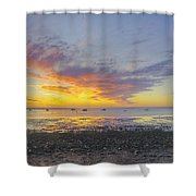 Pavilion Sunrise Shower Curtain
