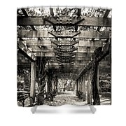Pavillion Shade At Central Park Shower Curtain