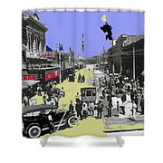 Paving East Congress In Tucson 1913 The Year Villa Visited Tucson Shower Curtain