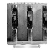 Pay Phones 2b Shower Curtain