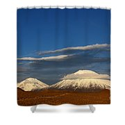 Payachatas Volcanos Chile Shower Curtain
