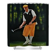 Payne Stewart Shower Curtain by Paul Meijering