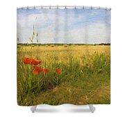 Paysage De Normandie Shower Curtain