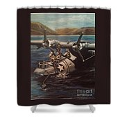 Pby 5 Loading At Pearl Harbor Shower Curtain