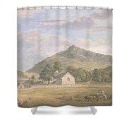 Haymaking At Dolwyddelan Shower Curtain