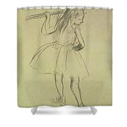 Girl Dancer At The Barre Shower Curtain