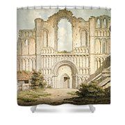 Pd.56-1958 West Front Of Castle Acre Shower Curtain