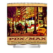 Pdx Max II Shower Curtain