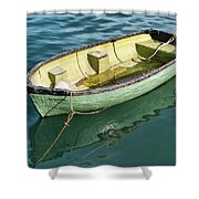 Pea-green Boat Shower Curtain