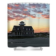 Oregon Inlet Life Saving Station 2693 Shower Curtain