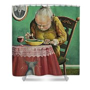 Pea Soup And Cabernet Shower Curtain