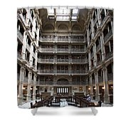 Peabody Library Baltimore Shower Curtain